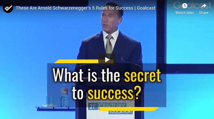 These Are Arnold Schwarzenegger's 5 Rules For Success Secrets Revealed