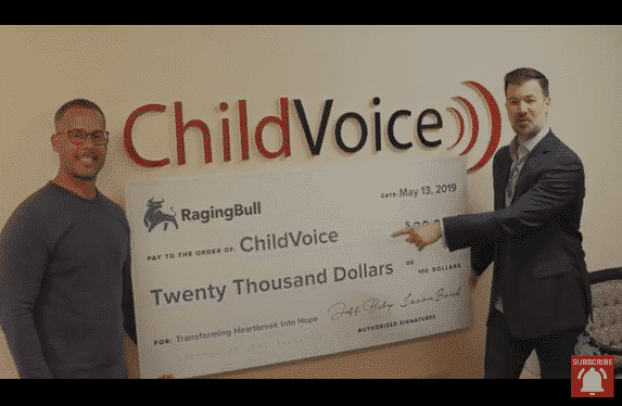 RagingBull.com Foundation Donates $20,000 to ChildVoice