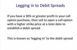 Legging in to Debit Spread