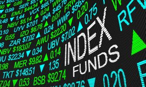 Index Funds Share Prices Stock Market Ticker 3d Illustration