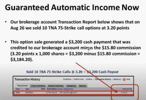 Guaranteed Automatic Income