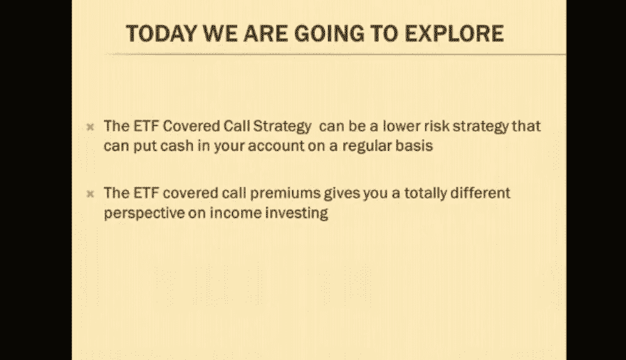 ETF Covered Call Strategy